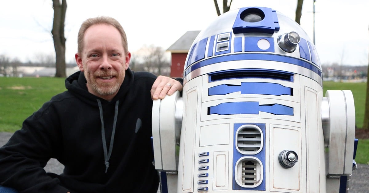 A Love of Engineering and Star Wars Led Aaron Treble to Build Replica R2-D2