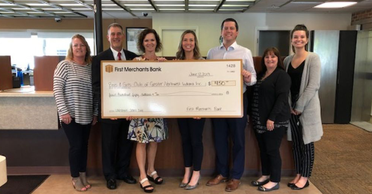 "First Merchants Bank wears blue jeans for blue ""Club"" doors"