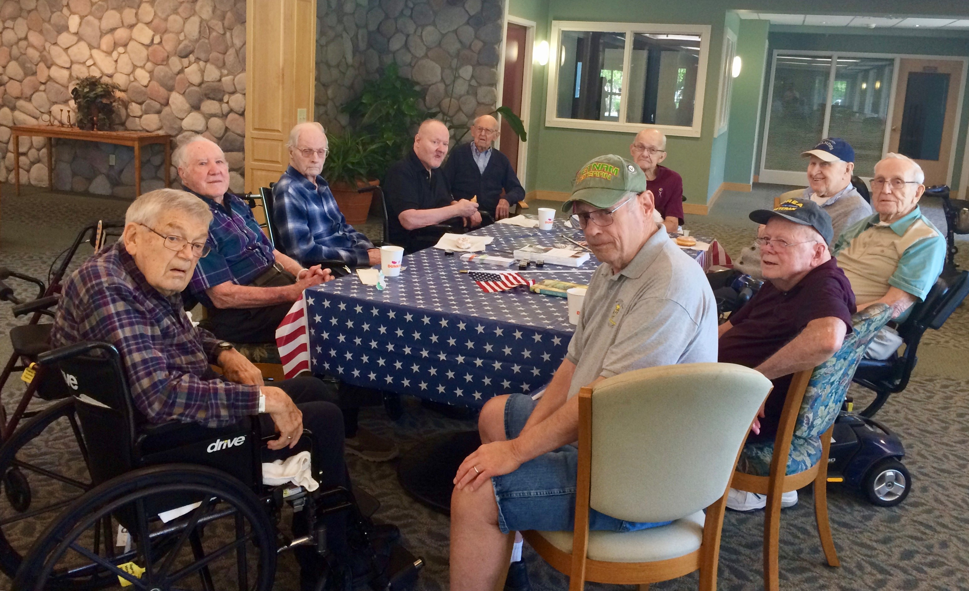 "Center for Hospice Care Hosts ""Vet-to-Vet Café"" at Southfield Village"