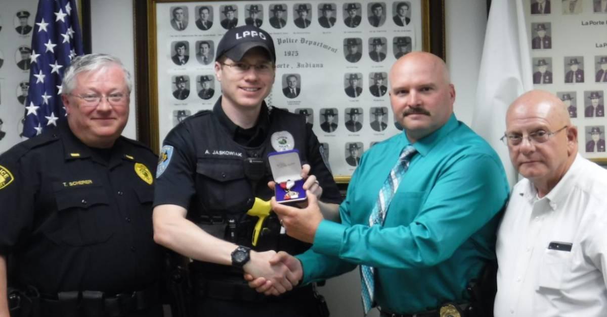 LaPorte Police Officer Receives Life Saving Award