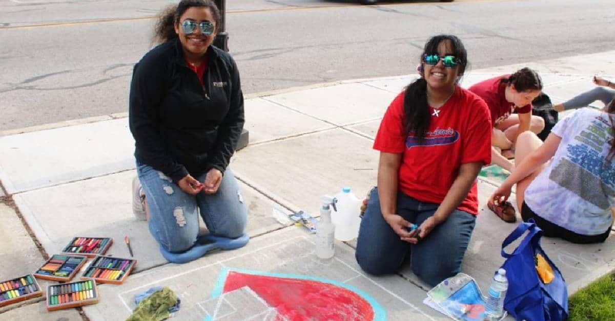 Porter County's 7th Annual Chalk the Walk draws a crowd