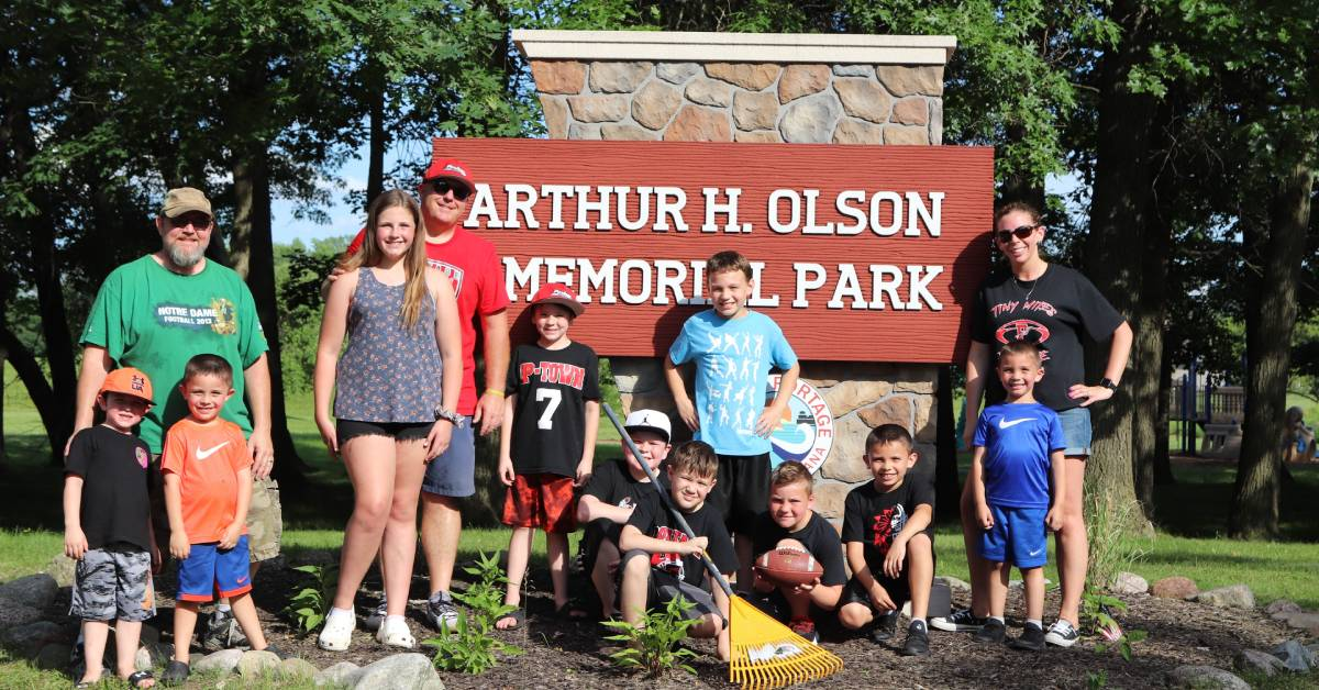 Portage Pop Warner athletes learn value of a clean community