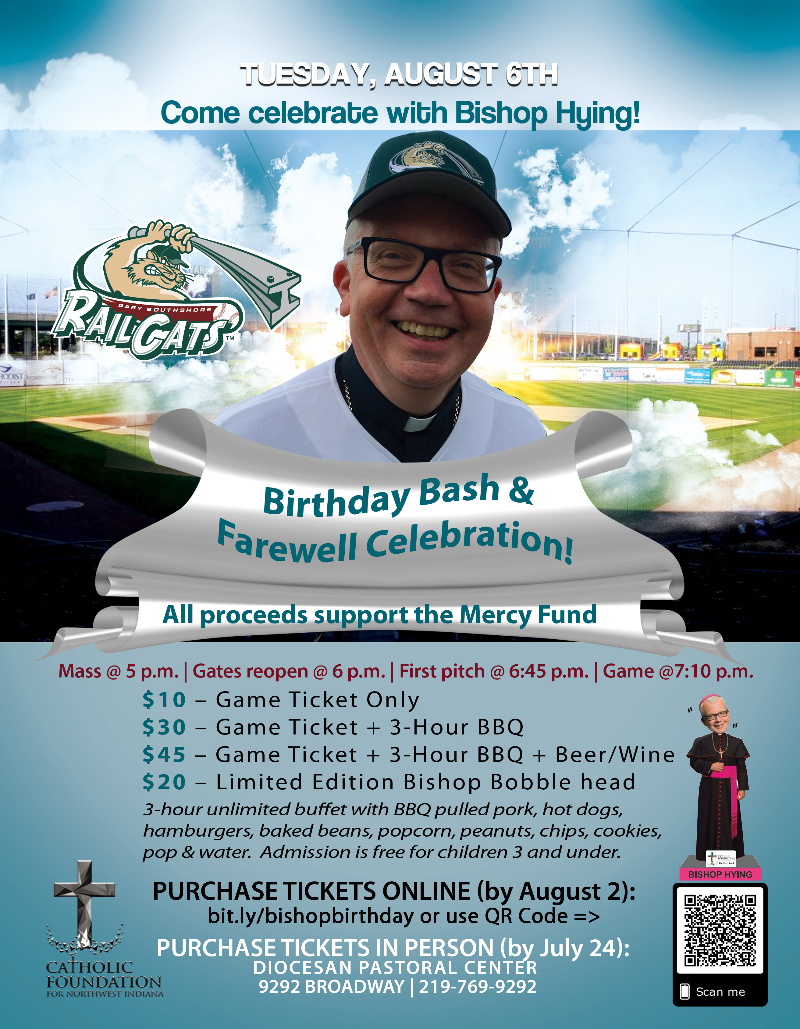 Birthday Bash & Farewell Celebration for Bishop Hying