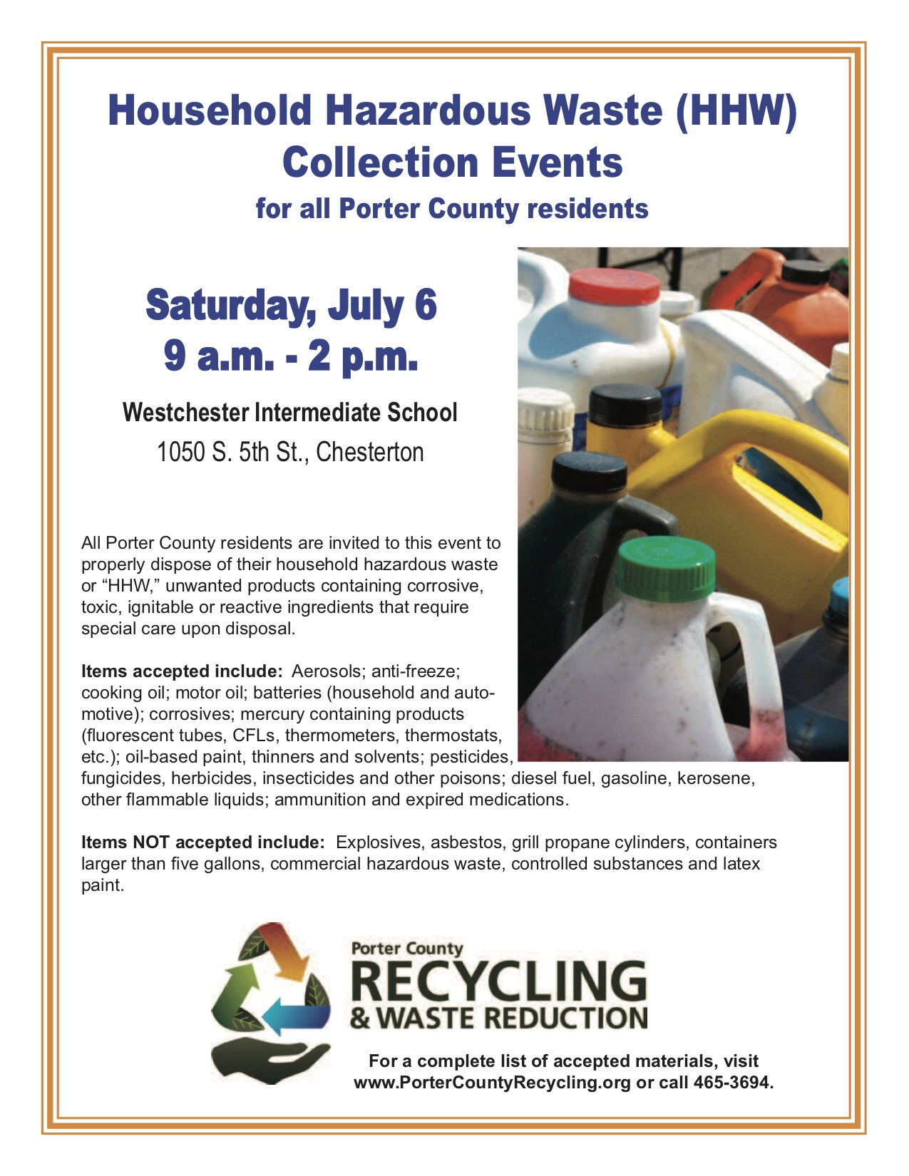 Chemical and fuel collection in Chesterton