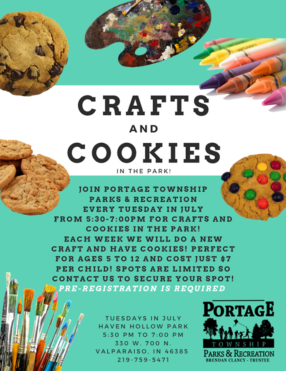 Crafts & Cookies in the Park