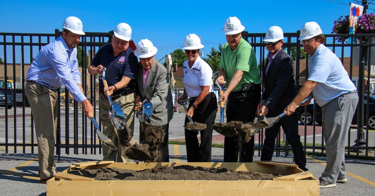 City of Whiting and Holladay Properties break ground on new Illiana mixed-use development