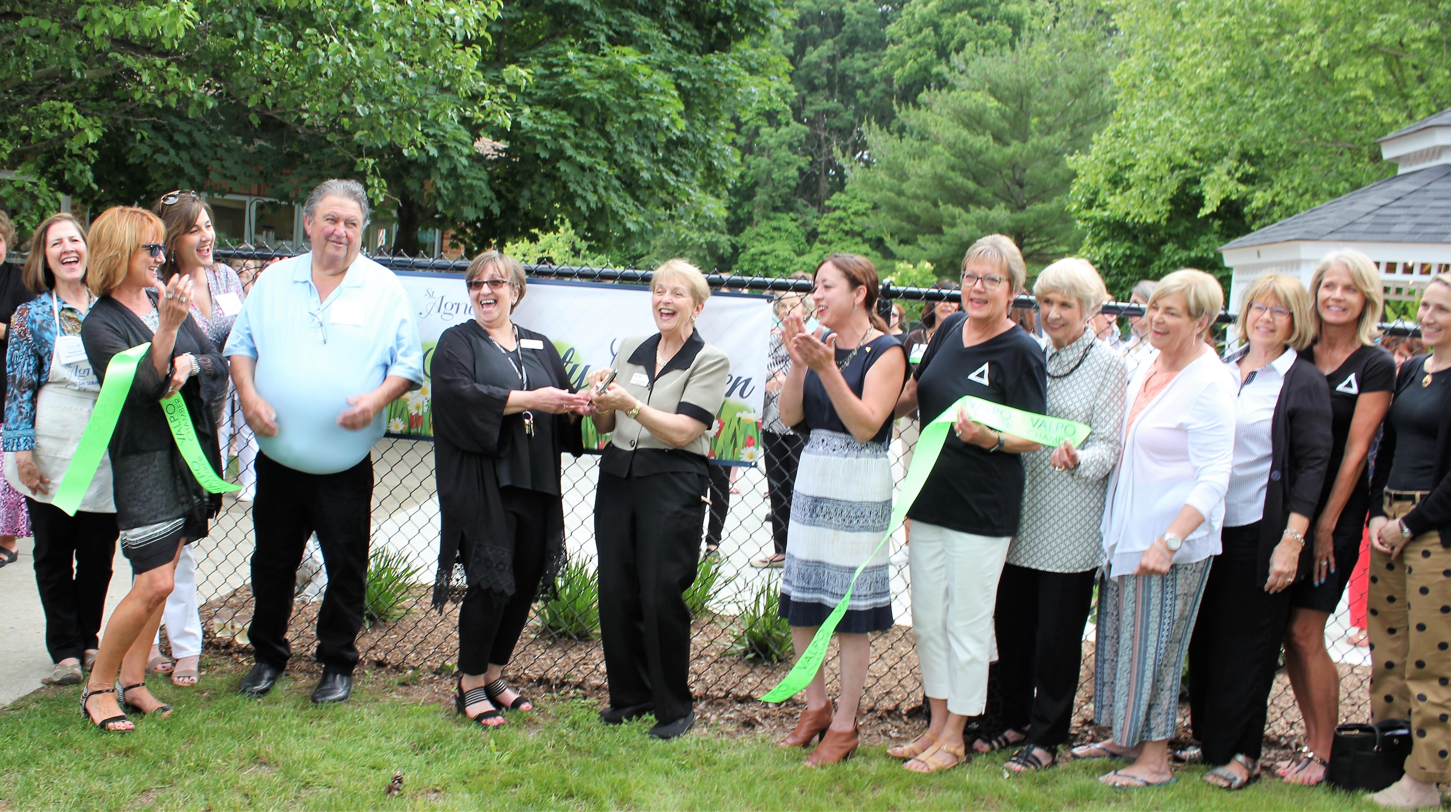 Garden party celebrates St. Agnes' outdoor oasis