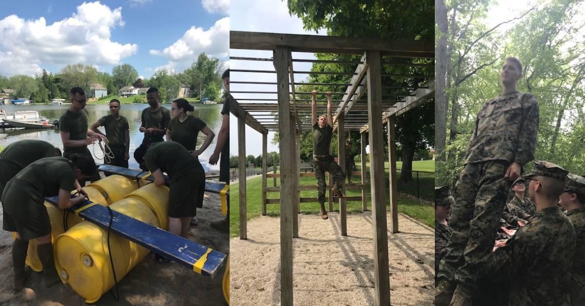 Michigan City High School's JROTC visits Marine Corps Leadership Camp