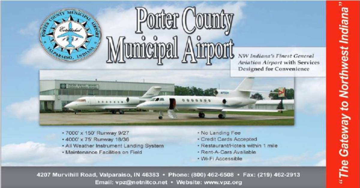 PRESS RELEASE NOTICE – COUNCIL ON THE ROAD Second Stop Porter County Municipal Airport