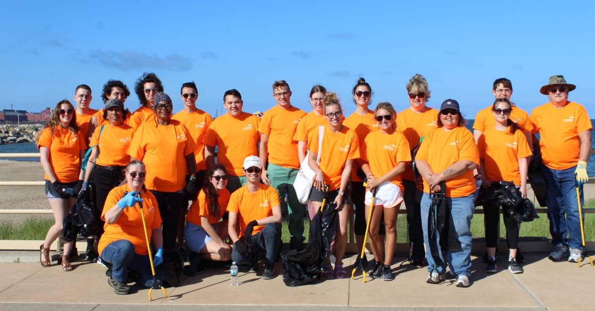 ArcelorMittal refreshes Jeorse Park Beach with their Annual Volunteer Cleanup