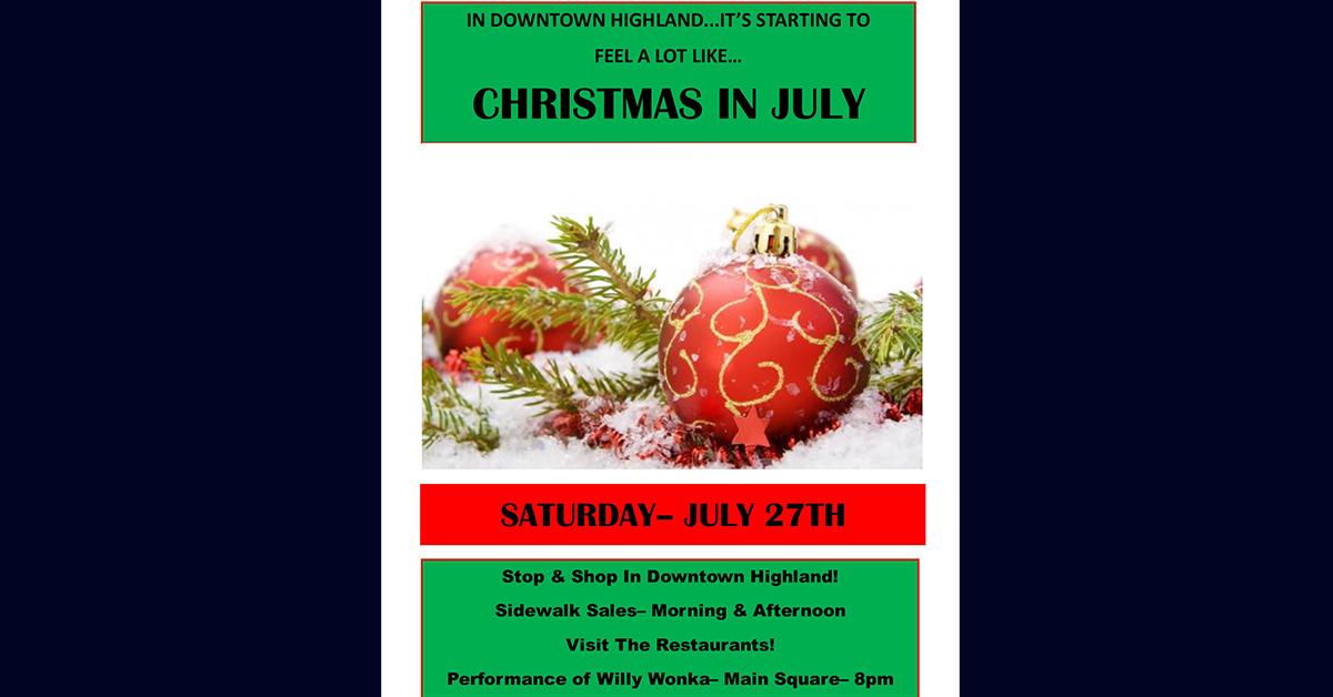 Christmas In July- Sidewalk Sale