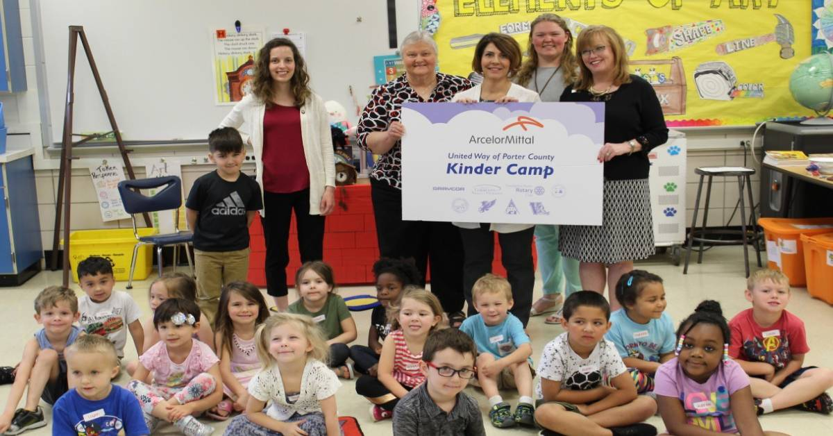 Kinder Camp provides summer education for incoming students thanks to United Way of Porter County and ArcelorMittal