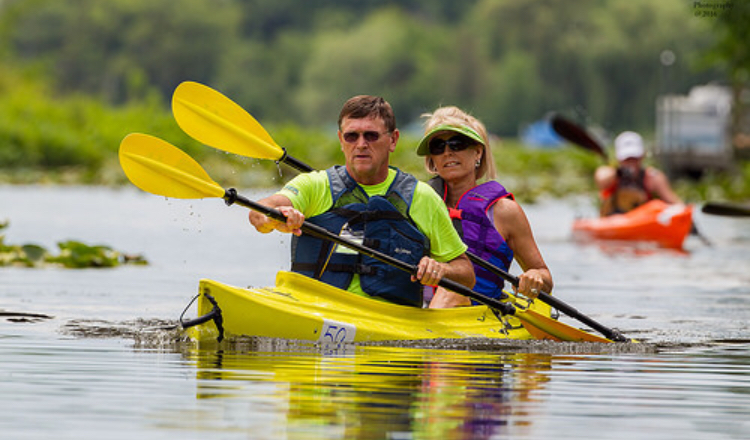 Lions Paws for Support Paddlefest – a benefit for local veterans and rescue dogs