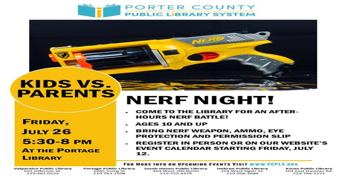 Nerf Night at the Portage Branch