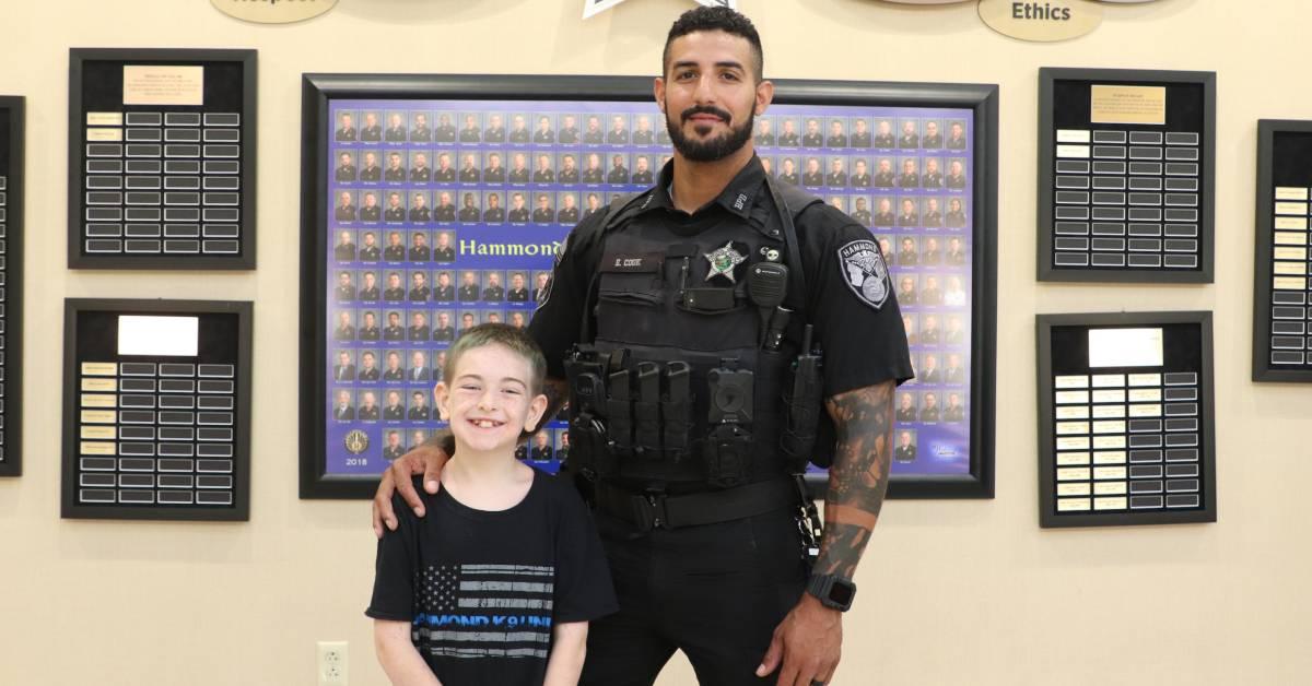 Hammond Police Department Recognizes Officer Enrique Cook