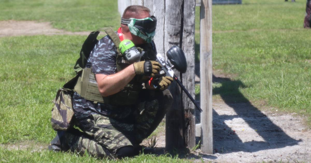 "Paintball Players Battle in Post-Apocalyptic ""Fallout"" Scenario at Fort Knox Paintball"
