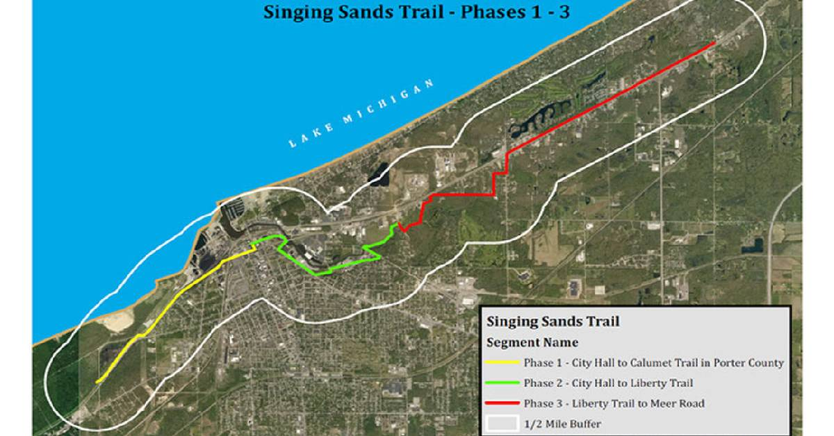 Singing Sands Trail, Phase 1 City of Michigan City, Indiana