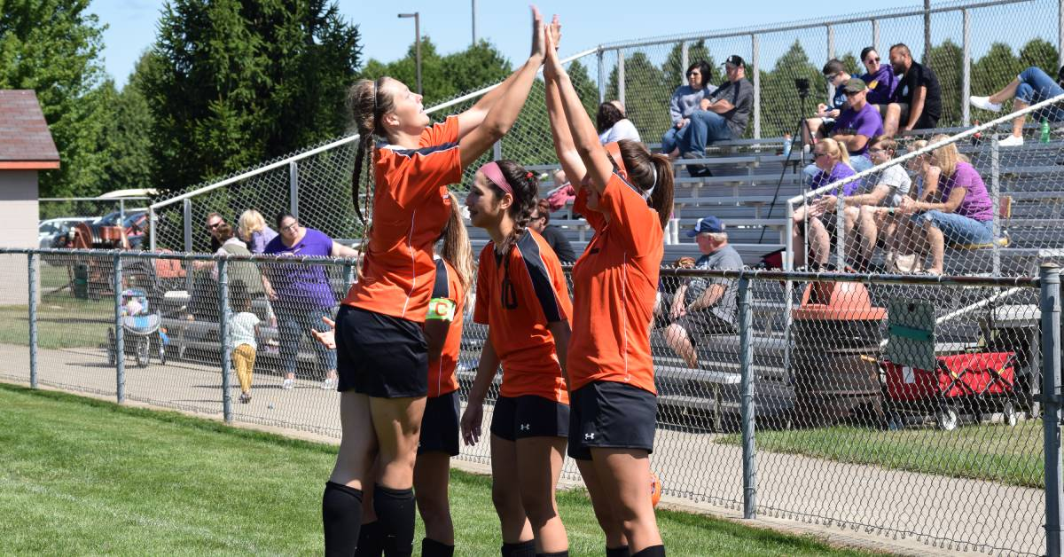 La Porte girls soccer defends home turf in brawl against Hobart