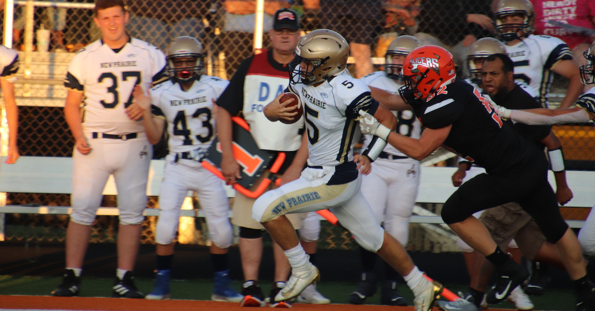 New Prairie football comes out on top during season opener against La Porte