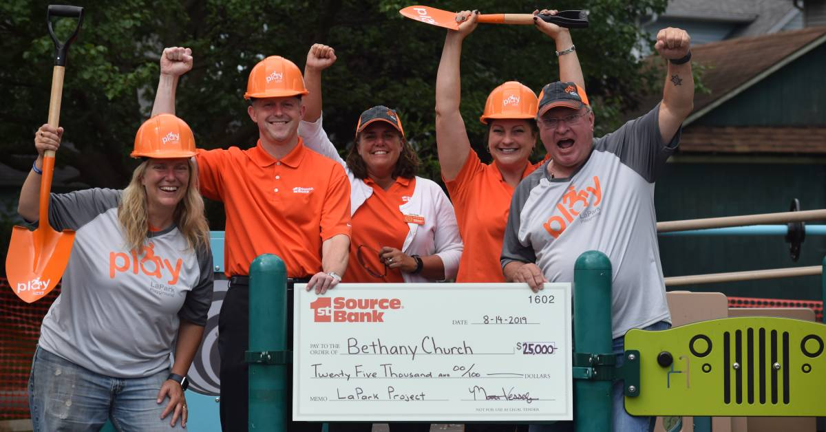 1st Source Bank contributes $25,000 to Bethany Lutheran Church's playground project