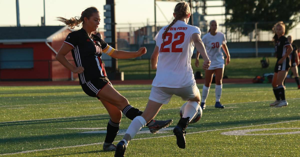 Crown Point Bulldogs defeat the Portage Indians in Girls Soccer match