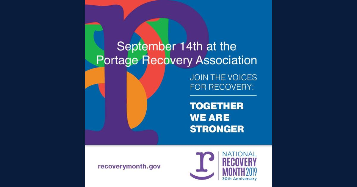 National Recovery Month Party at Portage Recovery Association
