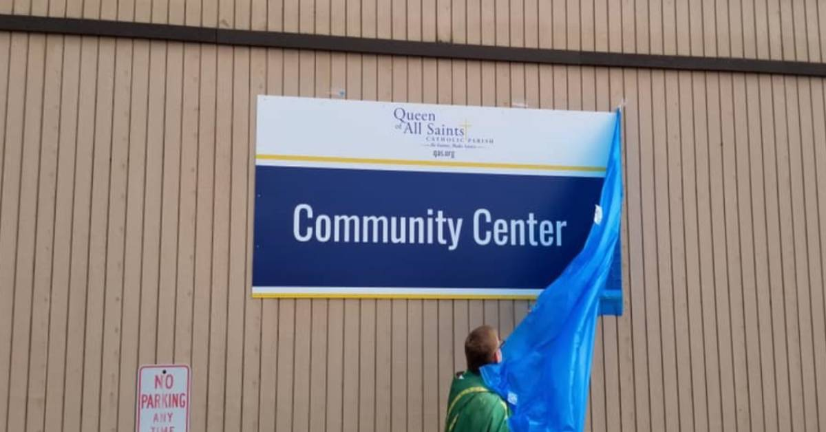 Queen of All Saints Parish unveils new community center