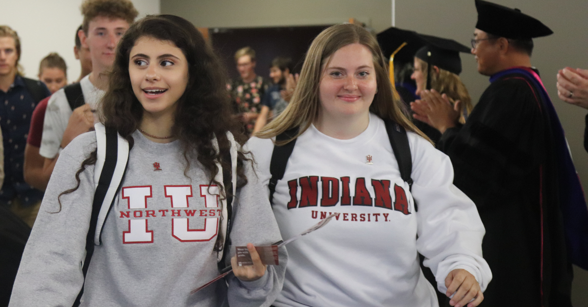 Indiana University Northwest RedHawk Induction Ceremony welcomes incoming freshmen