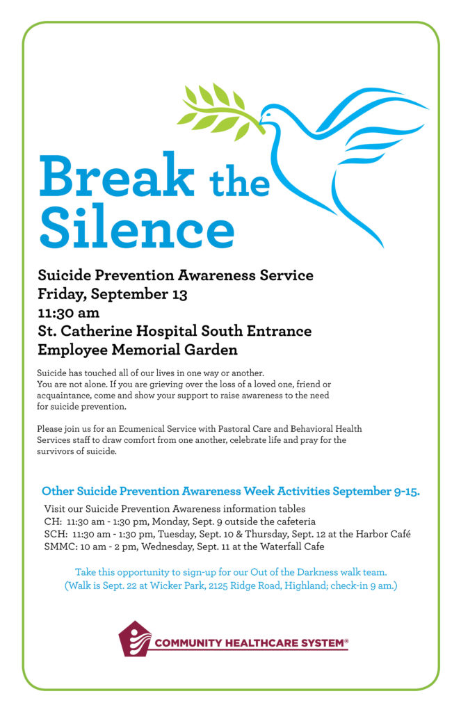 Break the Silence, Suicide Prevention Awareness Service