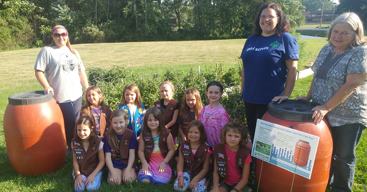 Brownie Girl Scouts Help Save our Planet
