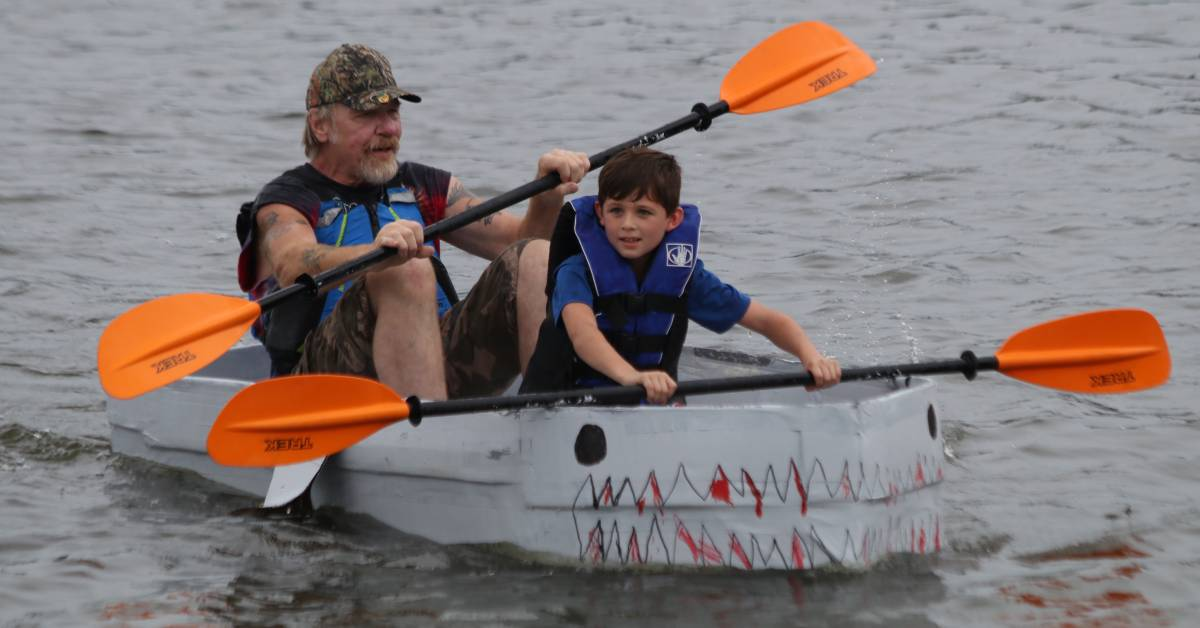 Hobart Lakefront Festival tests craftsmanship with Dam Duck Tape & Cardboard Regatta