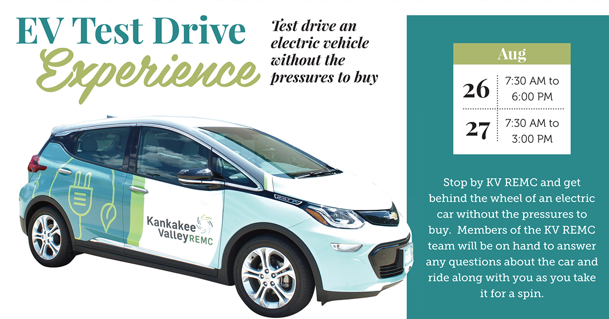 Kankakee Valley REMC To Host Electric Vehicle Test Drive Experience