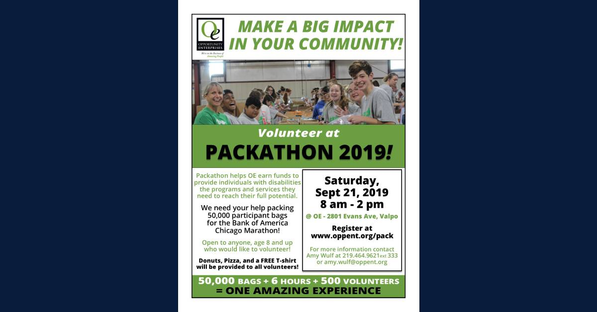 Opportunity Enterprises' 2019 Packathon