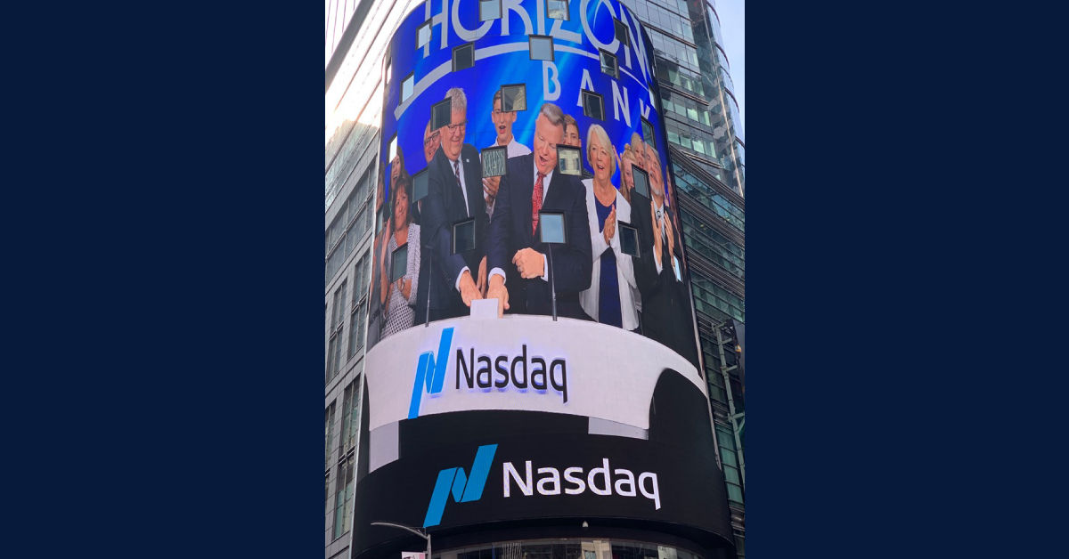 Horizon Bancorp, Inc. rings NASDAQ opening bell, celebrates as largest bank headquartered in Northwest Indiana