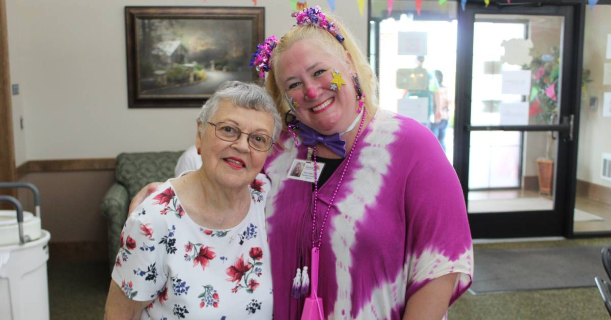 Journey Senior Living of Merrillville's Carnival in the Courtyard offers fun, games, and a blast to the past