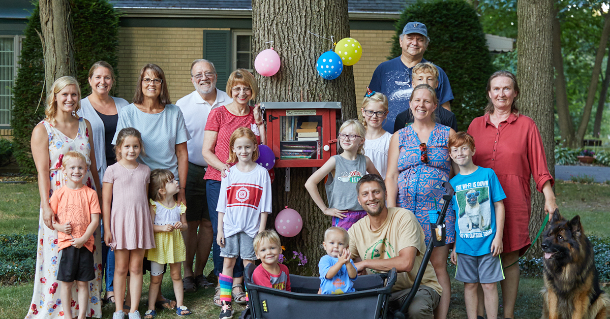 Neighborhood Dedicates Little Free Library