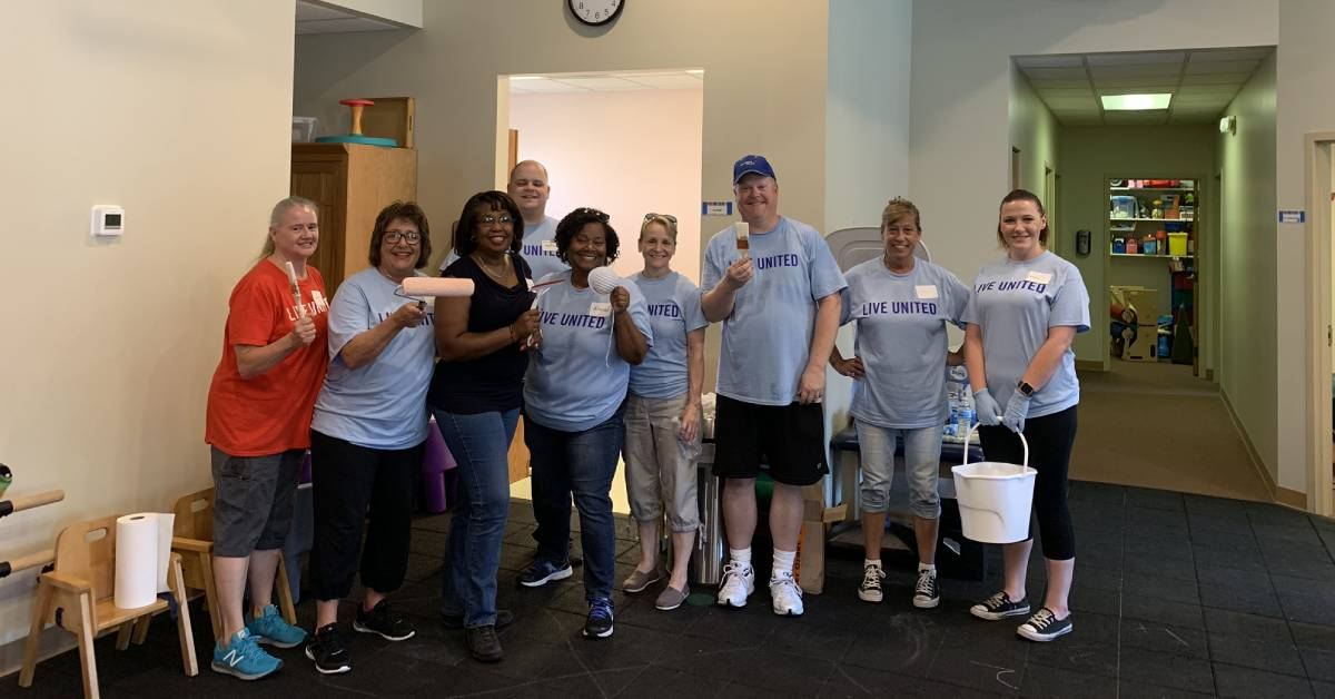 570 United Way volunteers helped 34 area nonprofits by getting dirty at this year's Day of Caring event