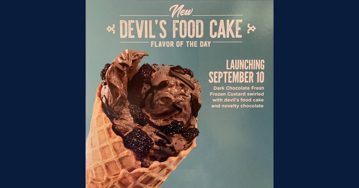 Culver's features new September flavor: Devil's Food Cake