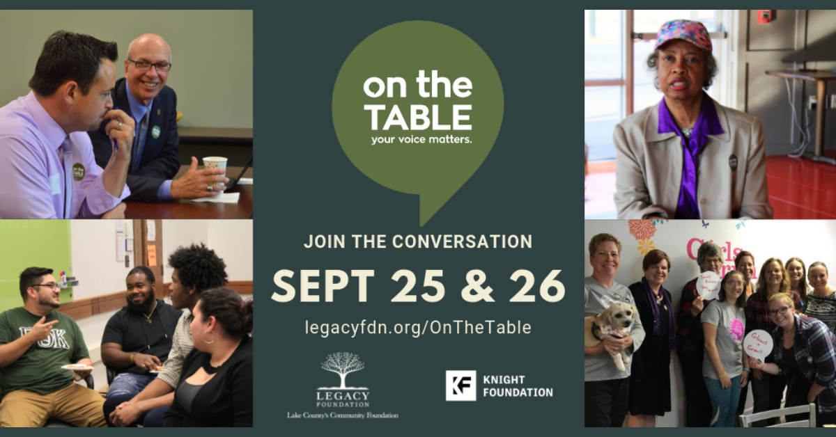 Legacy Foundation expands 2019 On the Table program, invites all of NWI to host or participate in discussions