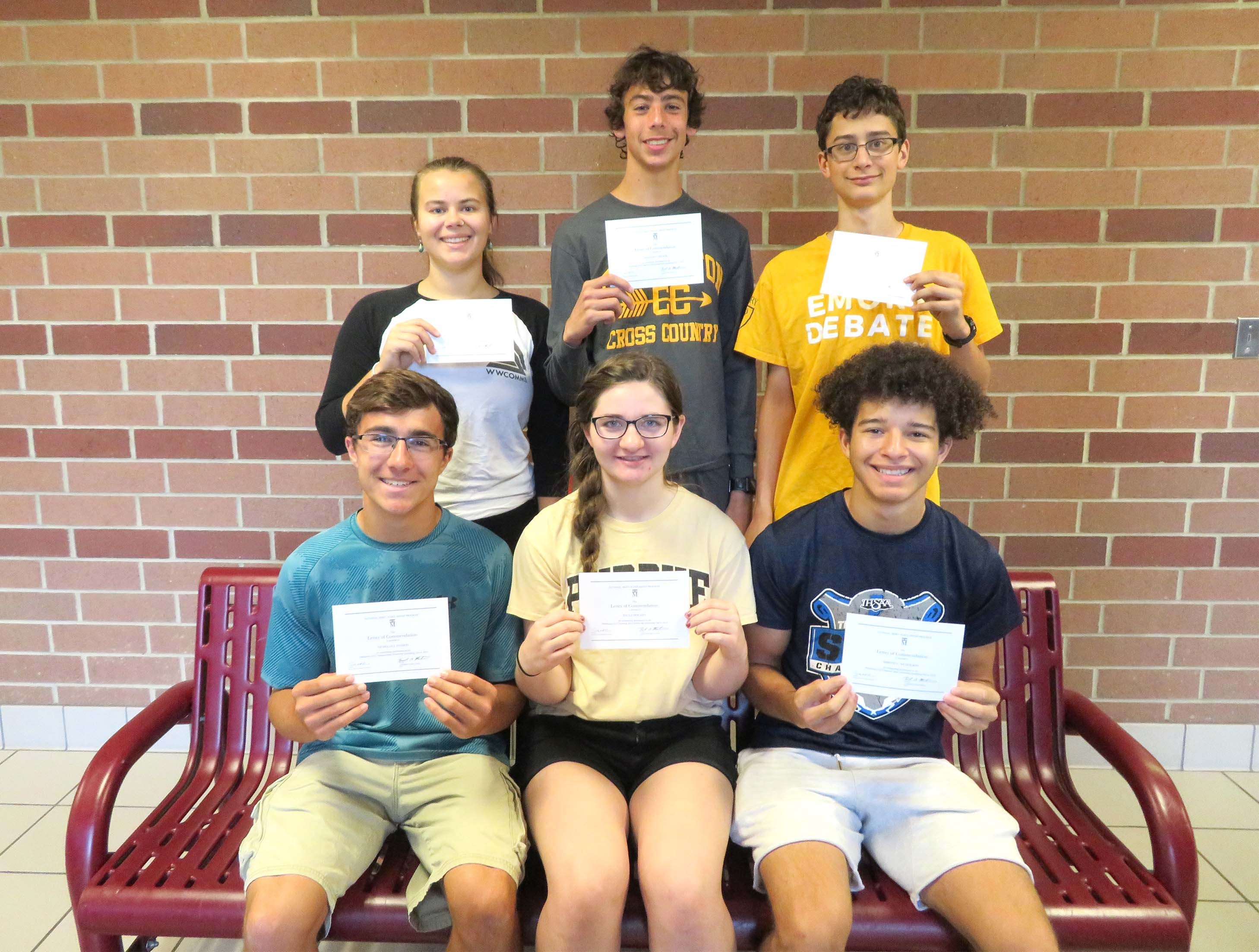 Six Chesterton High School students commended in the 2020 NATIONAL MERIT® SCHOLARSHIP PROGRAM