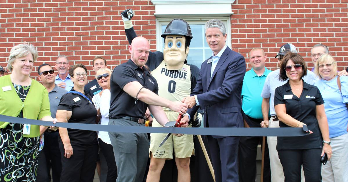 Purdue Federal Credit Union cuts the ribbon on their new Crown Point location