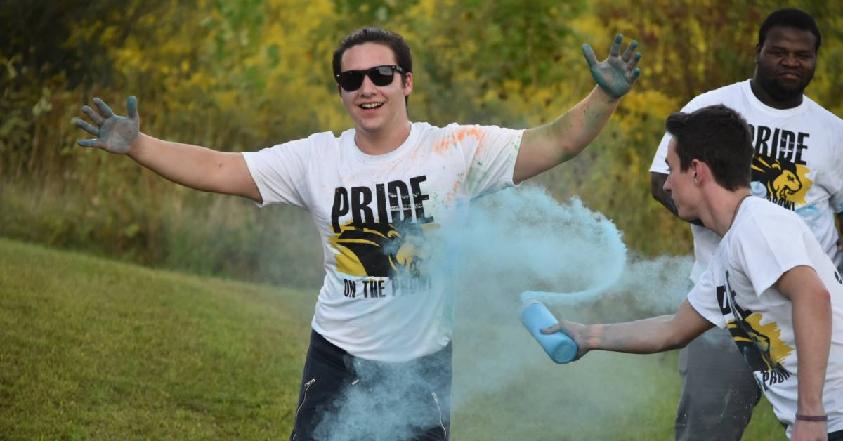 A colorful night for the Pride Stride 5K Fun Run/Walk at Purdue Northwest