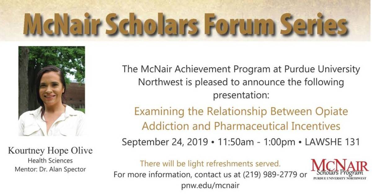 McNair Scholars Forum Series at PNW