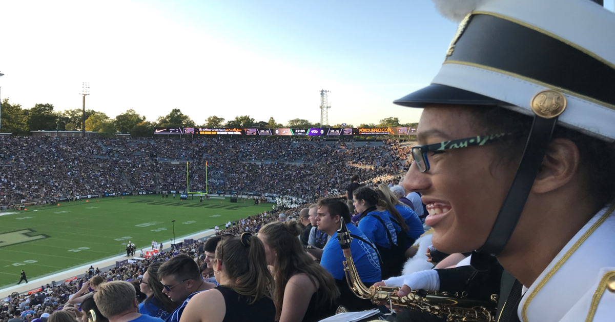 Griffith Marching Panthers Crash Purdue Band Day