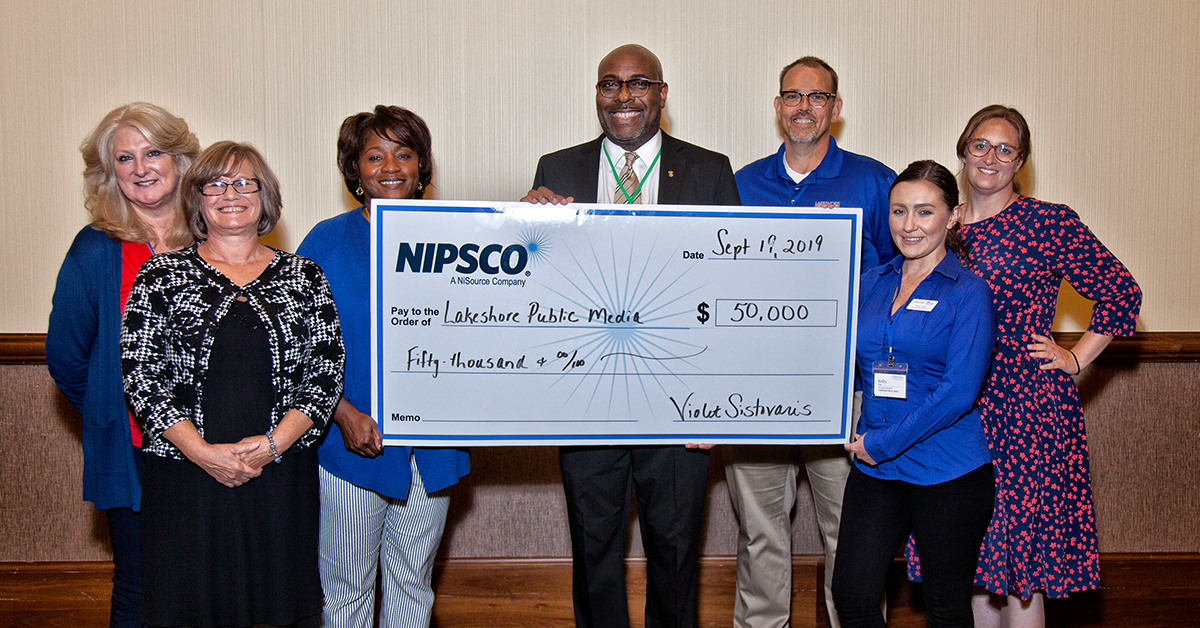NIPSCO and the NiSource Charitable Foundation Award Lakeshore PBS $50,000 to Finalize Sustainable Broadcast Operations