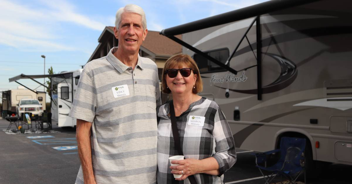 Clients, partners, and families share fireside travel tales at Oak Partners' Inspire Retirement RV Event