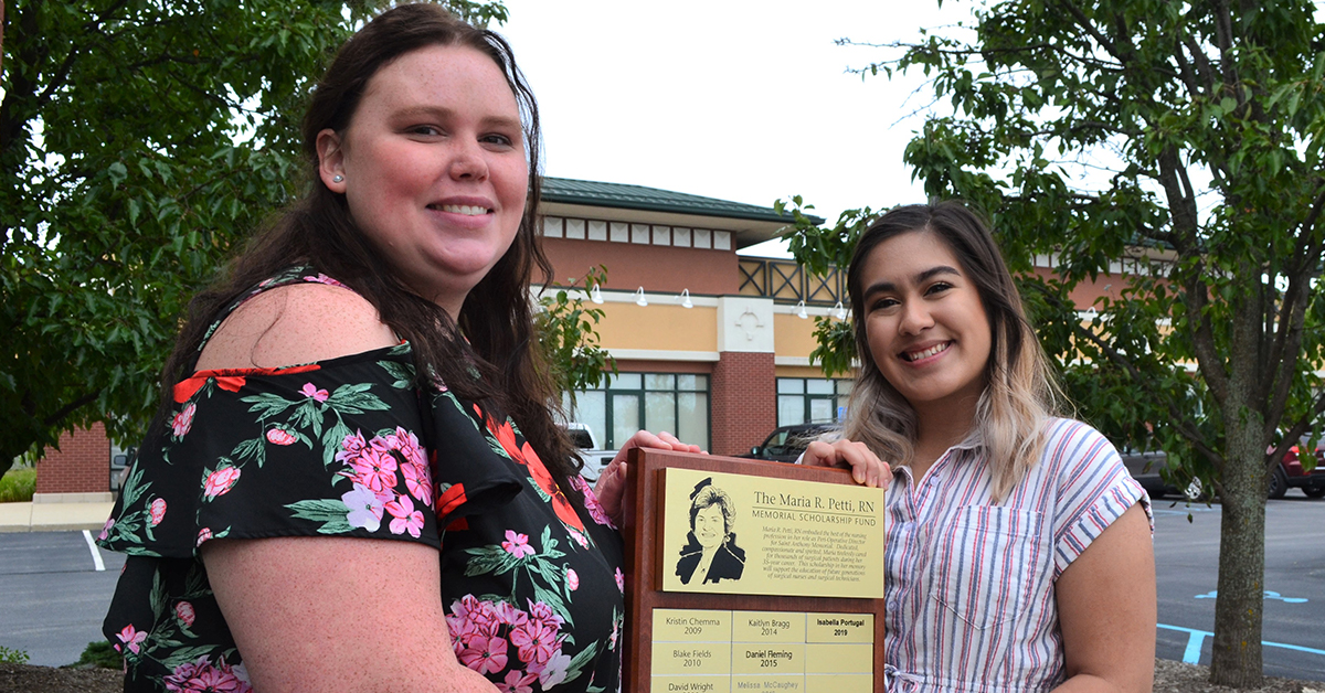 Two nursing students awarded Maria Petti Memorial Scholarships
