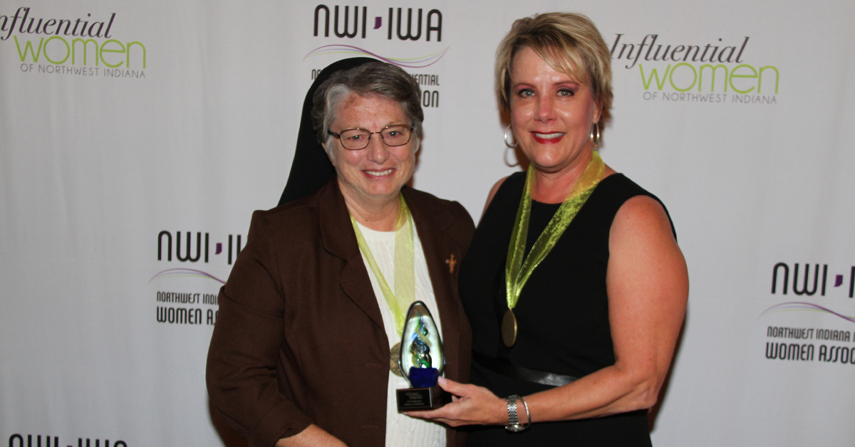 Sister Marlene Shapley honored as Influential Woman of NWI