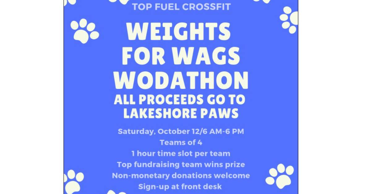 Weights for Wags Wodathon