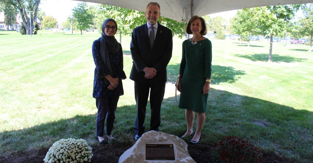 Indiana University Northwest dedicates a historical marker celebrating Tamarack Hall